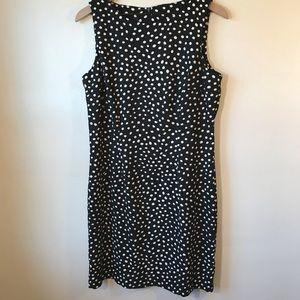 Polka Dot Sheath Dress, Black and White by AGB